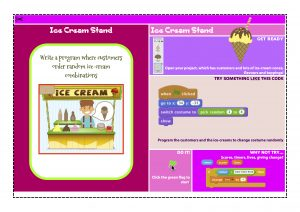 Ice-cream simulation pupil support card