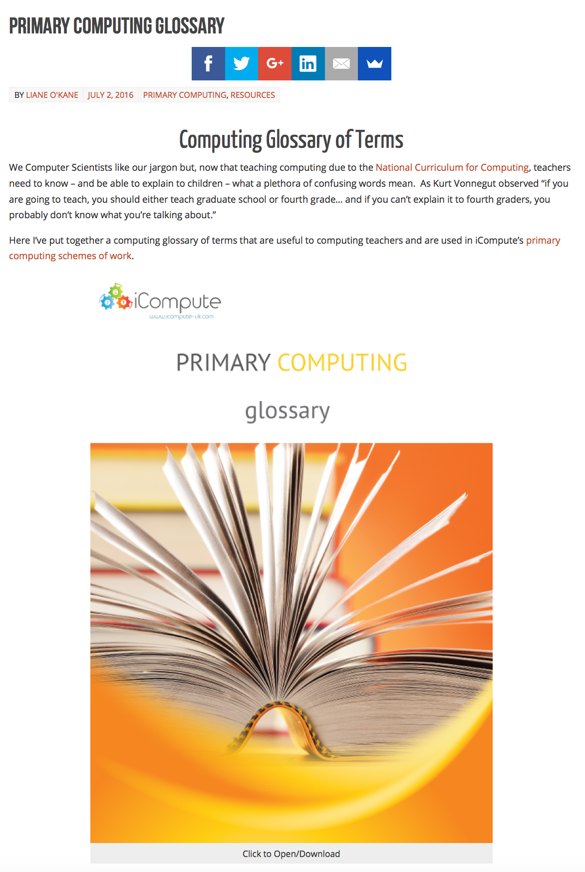 Primary Computing Resources